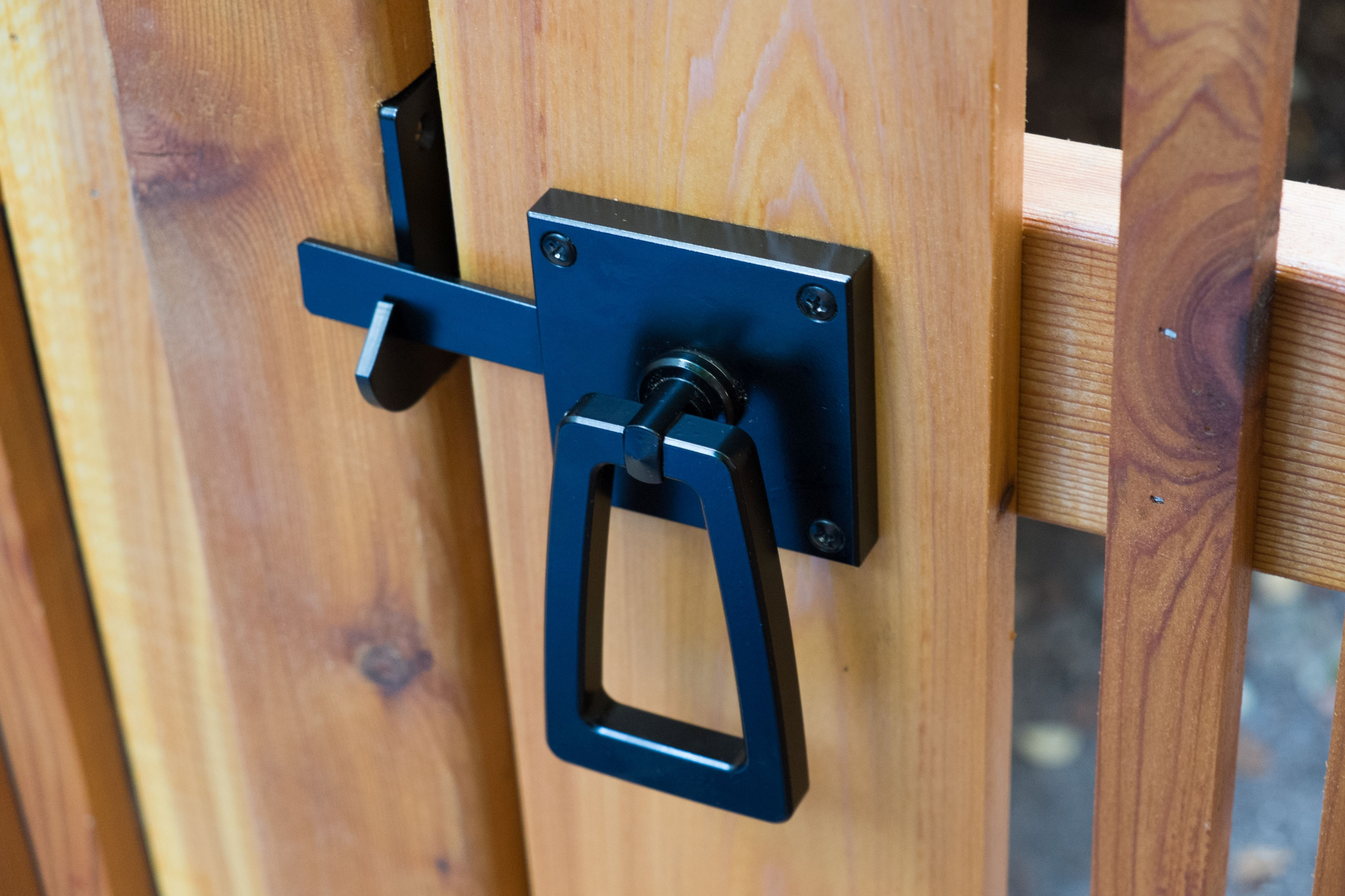 Modern Gate Latch With Tapered Ring Gate Hardware Modern Exterior
