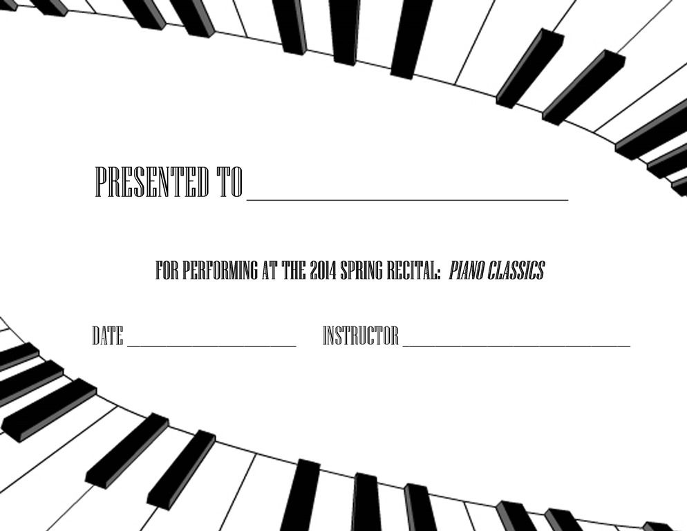 spring piano recital flyer