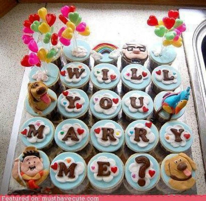 Will you marry me? / up cupcakes