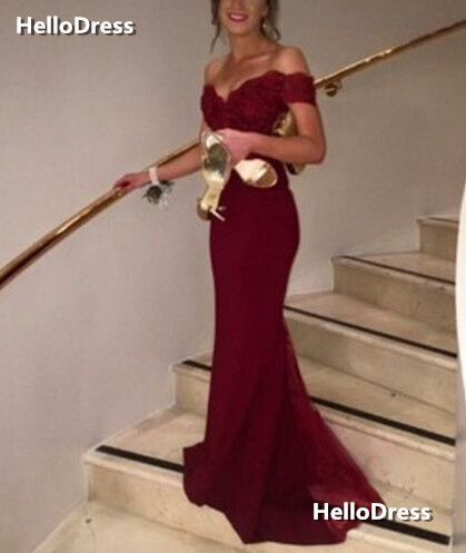 Wine+Red+Off-shoulder+Mermaid Trumpet+Formal+Occasion+Dress+Evening+Gown  If+you+wanna+make+some+change ddb04986e