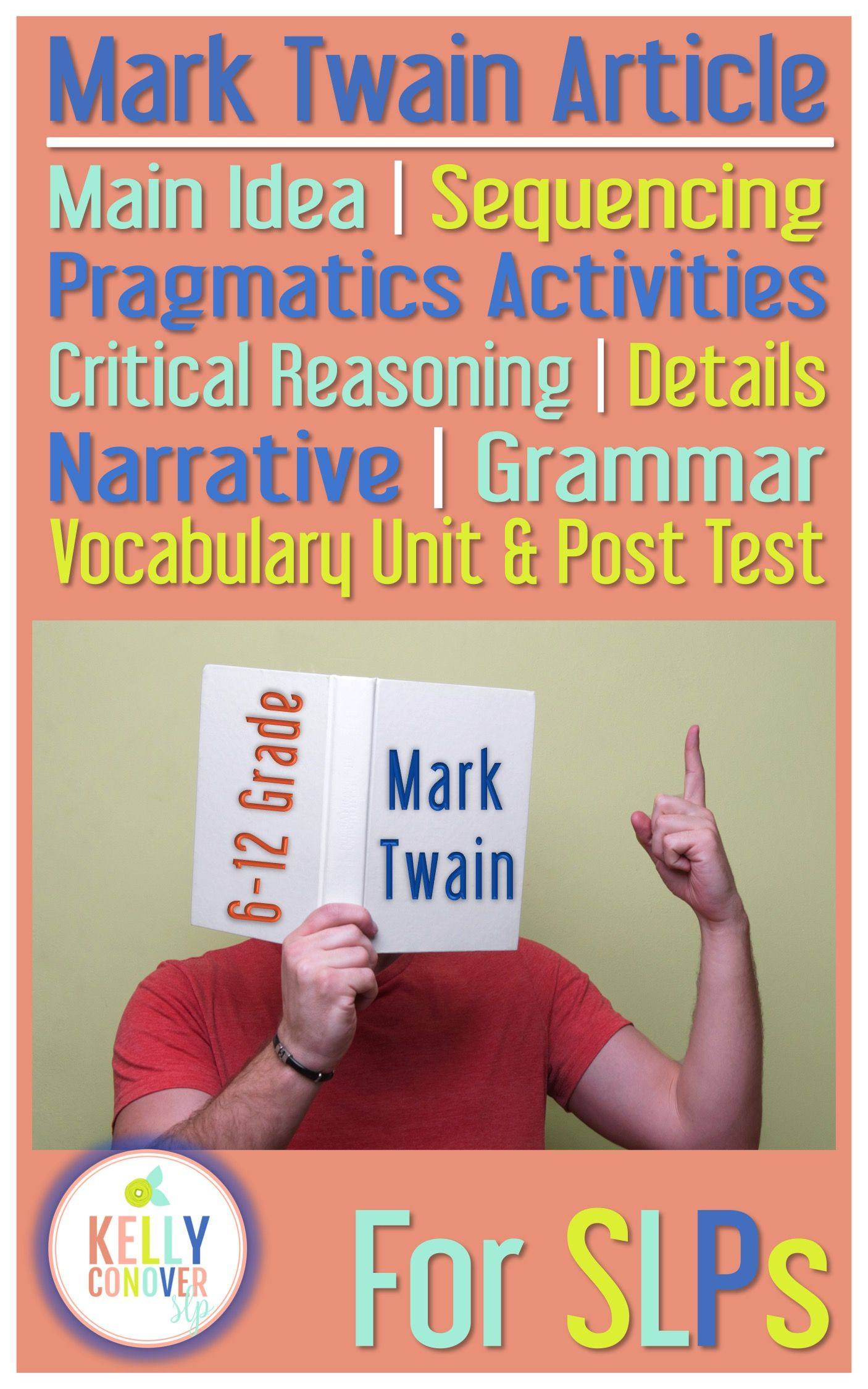 Every Goal Speech Therapy Unit Mark Twain