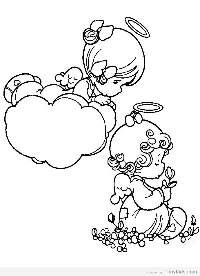timykids precious-moments-angels-coloring-pageshtml - fresh coloring pages about nurses