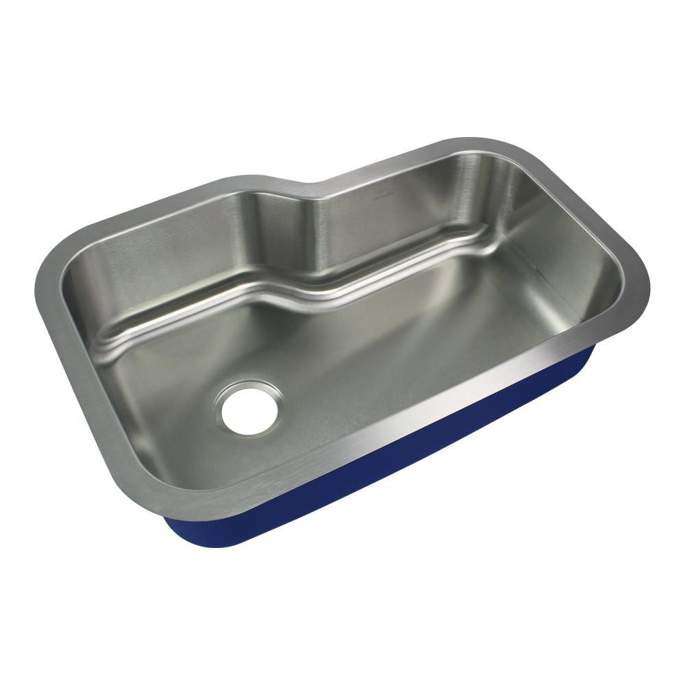 Transolid Meridian Undermount Stainless Steel 33 In Single Bowl