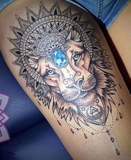 Lion Ink And Thight Image Female Lion Tattoo Body Art Tattoos Lion Tattoo