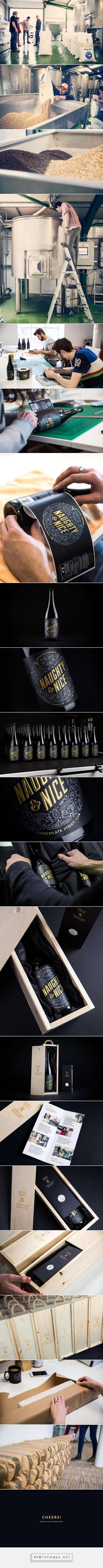 Naughty & Nice Beer Christmas Packaging designed by Robot Food​ - http://www.packagingoftheworld.com/2015/12/robot-food-x-vocation-brewery.html