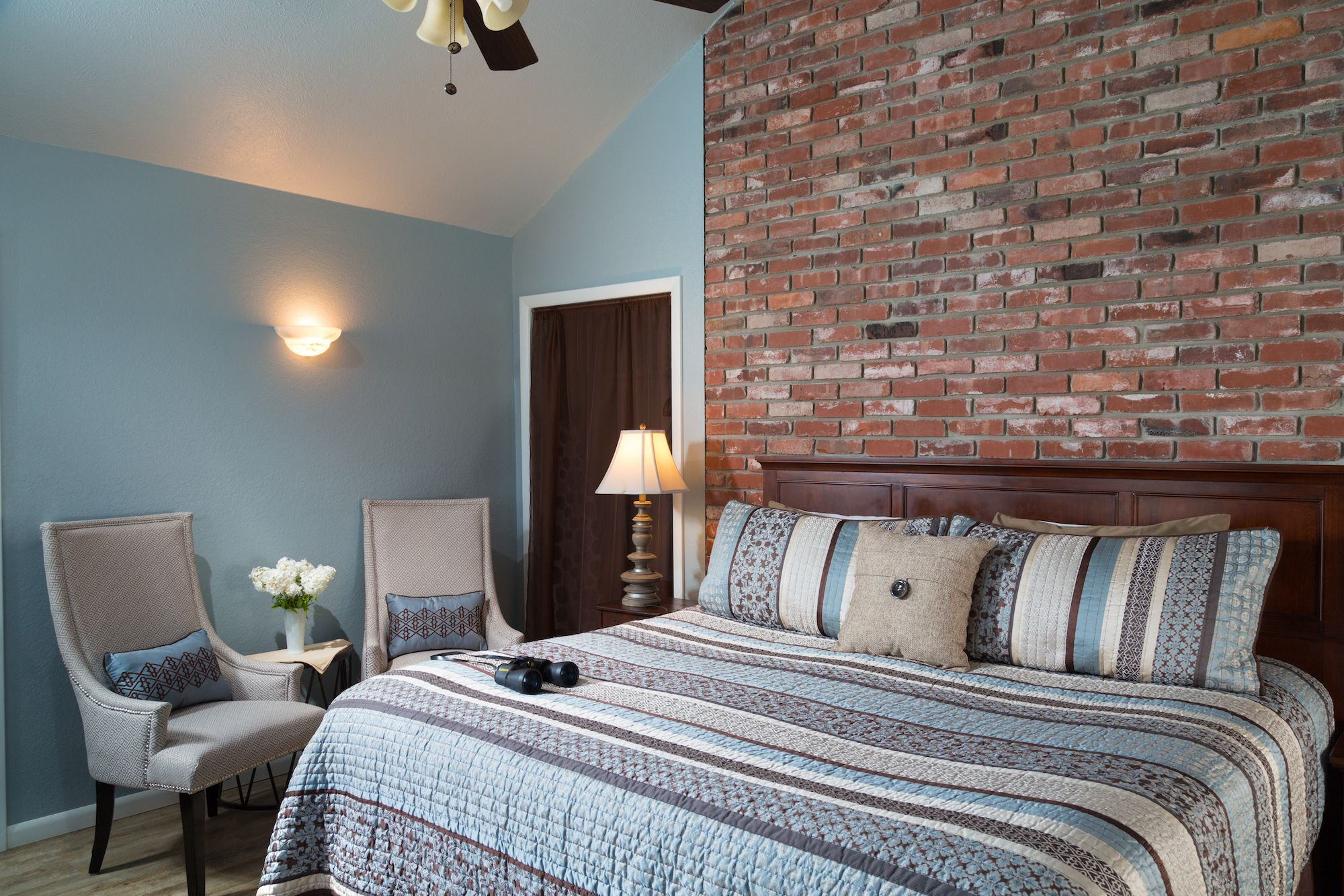 The comfortable Country Meadow room at our Kansas bed and