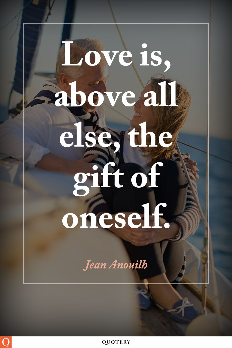 Love is, above all else, the gift of oneself.
