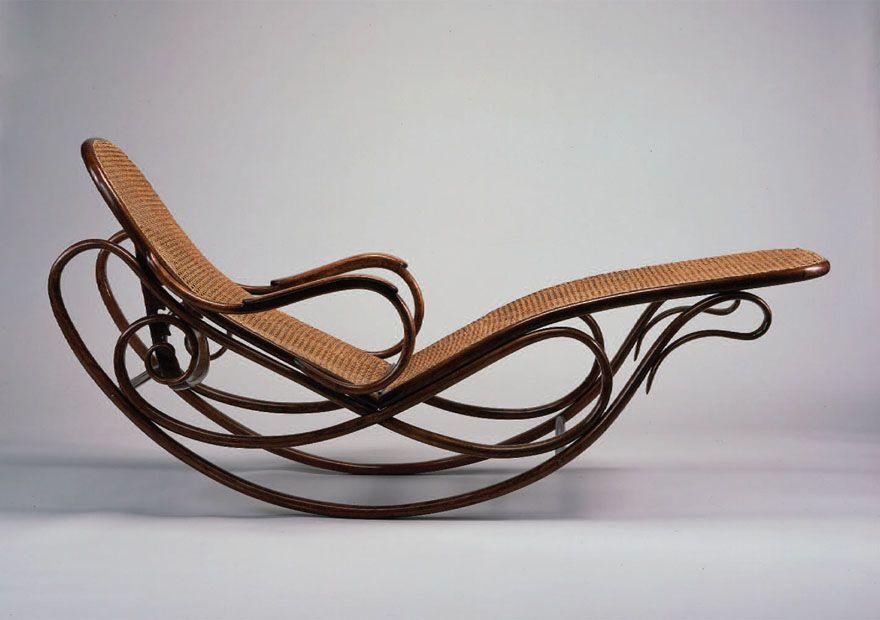 1880 Rocking Chaise Par Michael Thonet