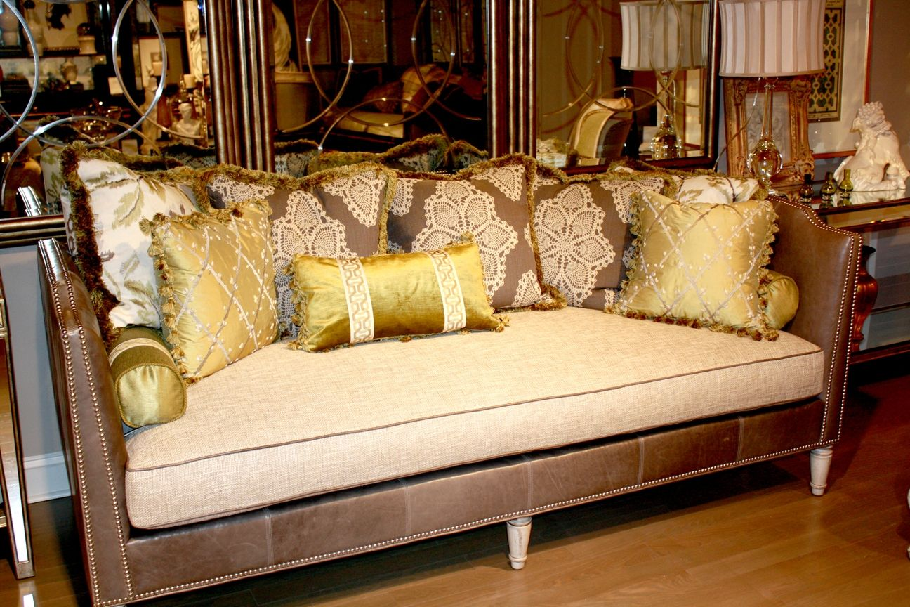 Decorating Ideas: Glamorous Living Room Design Ideas With Brown ...
