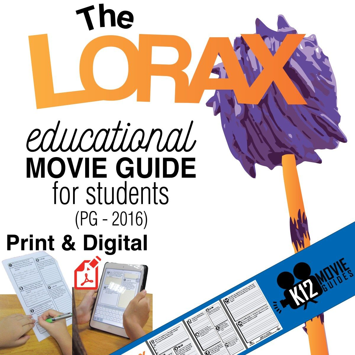 The Lorax Movie Guide Questions Worksheet Pg