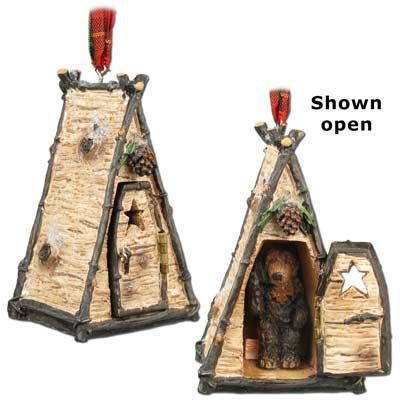 Bear in Outhouse Christmas Ornament  more wildlife and farm