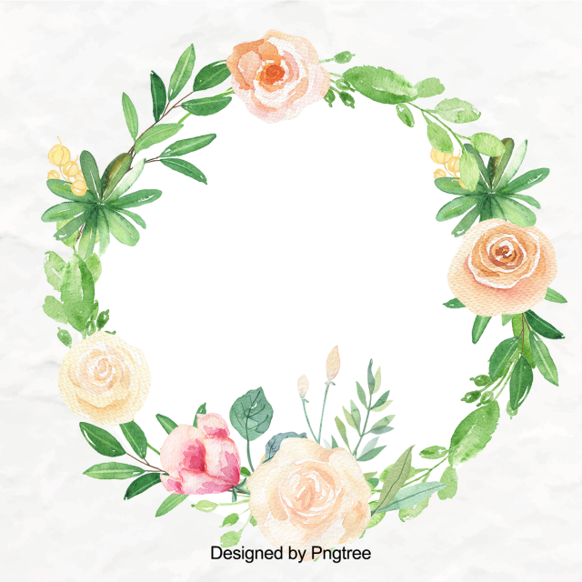 Beautiful Hand Paint Watercolor Floral Wreath Wreath Clipart Flower Flowers Png Transparent Clipart Image And Psd File For Free Download Floral Wreath Watercolor Floral Wreath Graphic Color Pencil Illustration