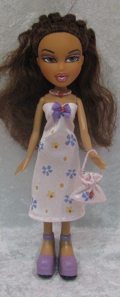 """Handmade Clothes for your 9½"""" BRATZ~Dress, Purse & Necklace~#84 Pink & Flowers #HandmadebyESCHdesigns"""
