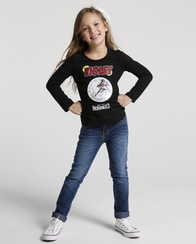 4a384f62ac Camiseta Malha Violet Os Incríveis - Meninas - Riachuelo