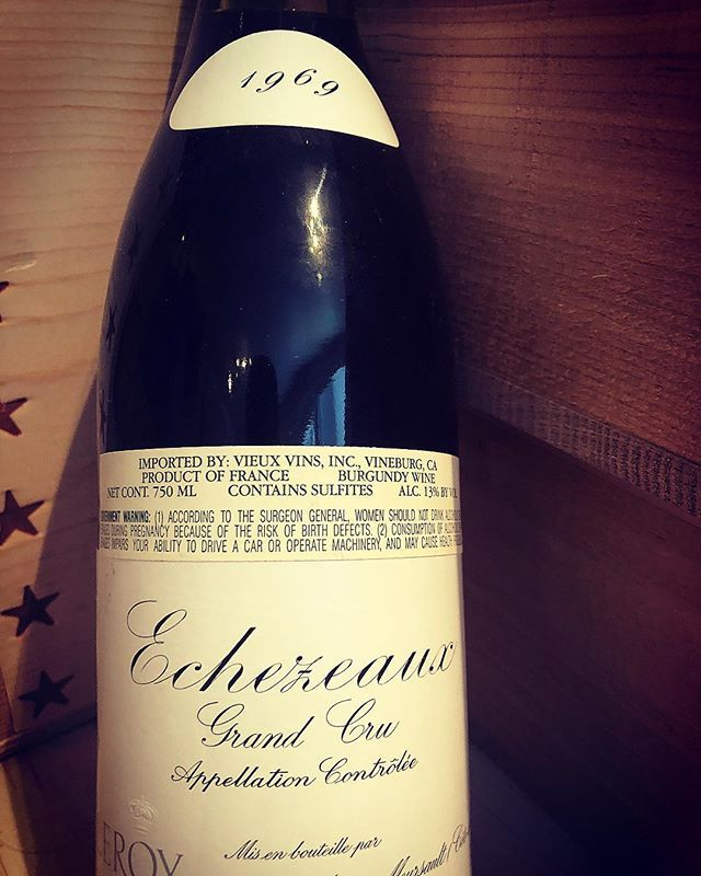 Gotta Love When A 49 Year Old Bottle Of Wine Has Perfect Fill Leroy Echezeaux 1969