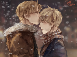 USUK - Winter by Mano-chan