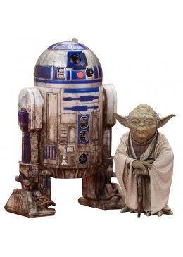 Pack 2 Figurines Yoda & R2-D2 Dagobah Version