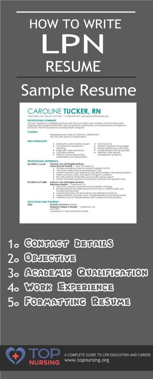 A resume creates the first impression of you before the employer - resume for nurses