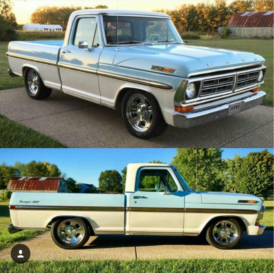 72 Ford Pickup Classic Ford Trucks Ford Pickup Trucks Old Ford
