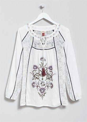 Falmer Embroidered Gypsy Top