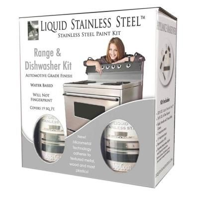 Nuvo 12 Oz Stainless Steel Appliance Paint Kit Fg Rdkit 19 Sq Ft The Home Depot Stainless Steel Paint Giani Granite Stainless Steel Range