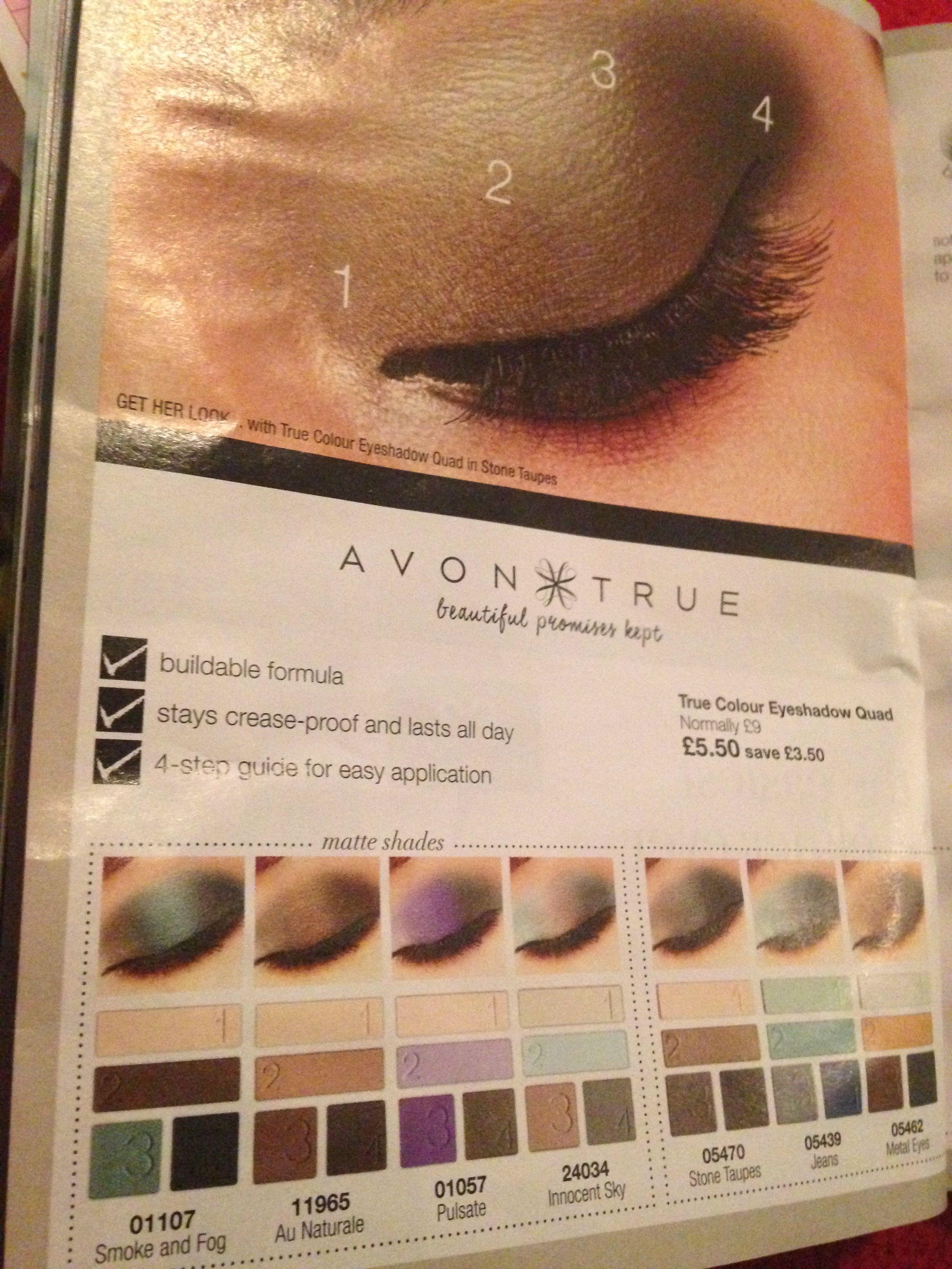 Avon Wish List Perfect Eye Makeup To Compliment Avon Mascara