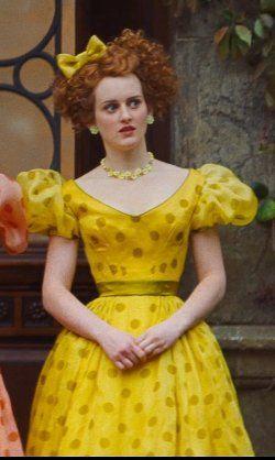 Sophie McShera Sandy Powell (Costume Designer) Custom Made Yellow Polka Dot Dress (Drizella) from Cinderella | TheTake