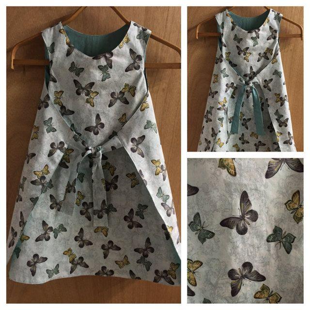 Boho Retro Style Wrap Dress, girls size 7 by SewMeems on Etsy