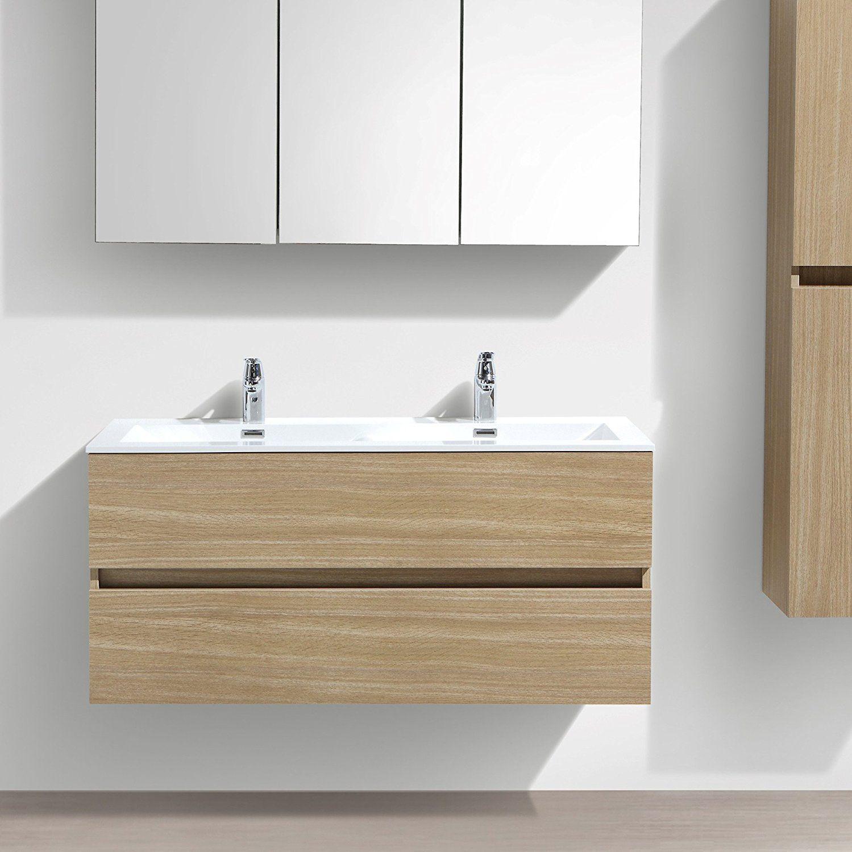 Meuble salle de bain design double vasque SIENA largeur 120 cm