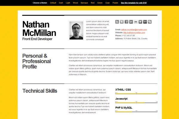 Bold CV\/Resume Template Online CV Pinterest Online cv, Cv - resume templates online
