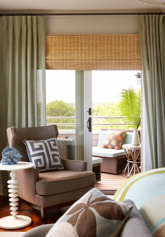 Like the wall color and brown chair.  Possible colors for condo living room. House of Turquoise: Rachel Reider Interiors