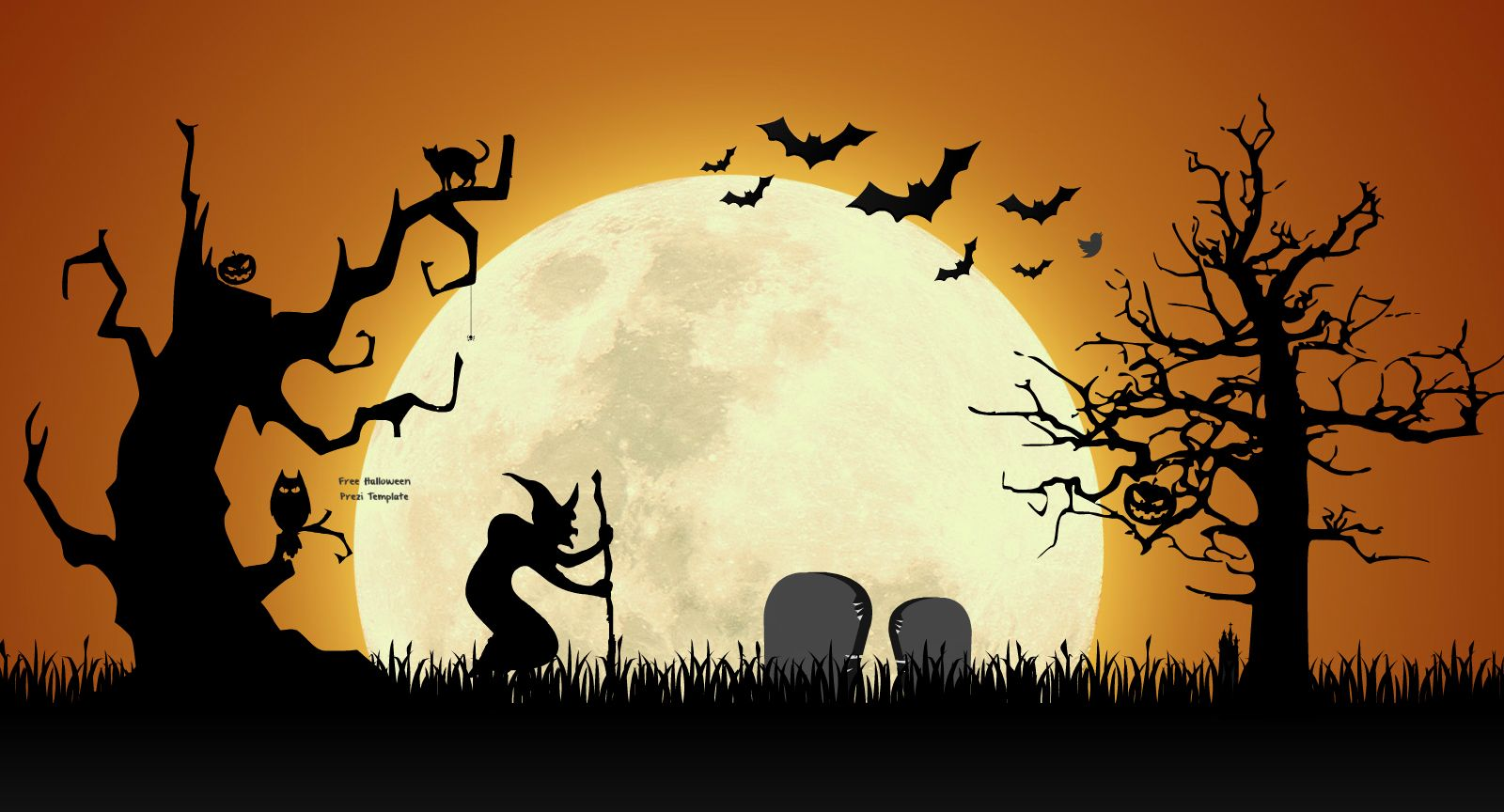 Free Halloween Themed Prezi Template Various Halloween Elements
