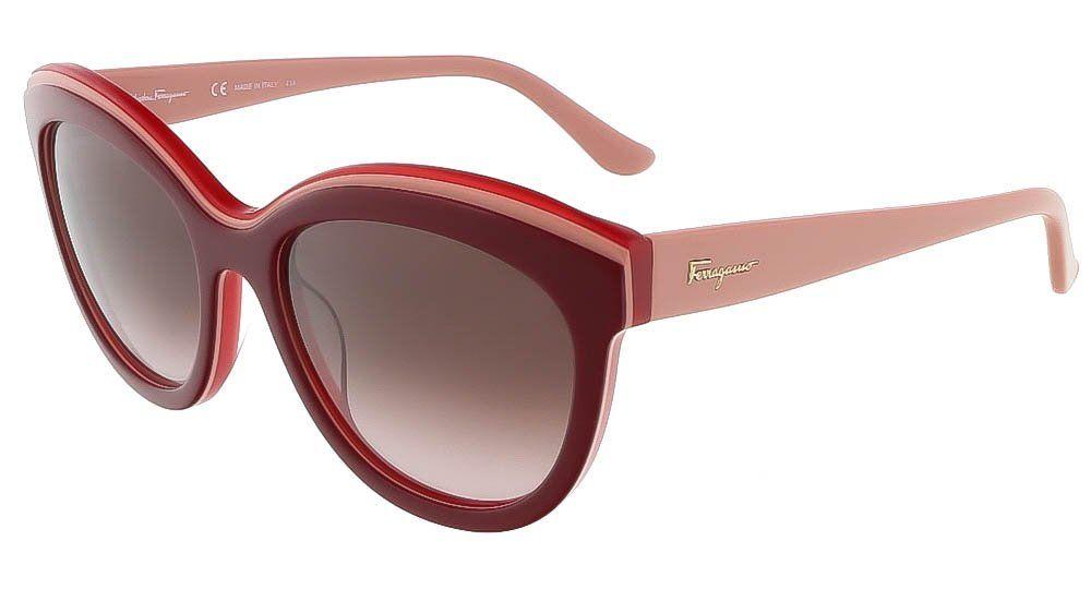0a0da225287 Sunglasses FERRAGAMO SF 757 S 614 BORDEAUX RED. Discreet Ferragamo ...