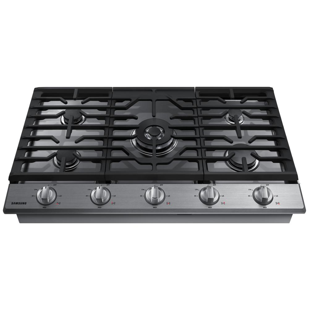 Samsung 36 In Gas Cooktop In Stainless Steel Silver With 5