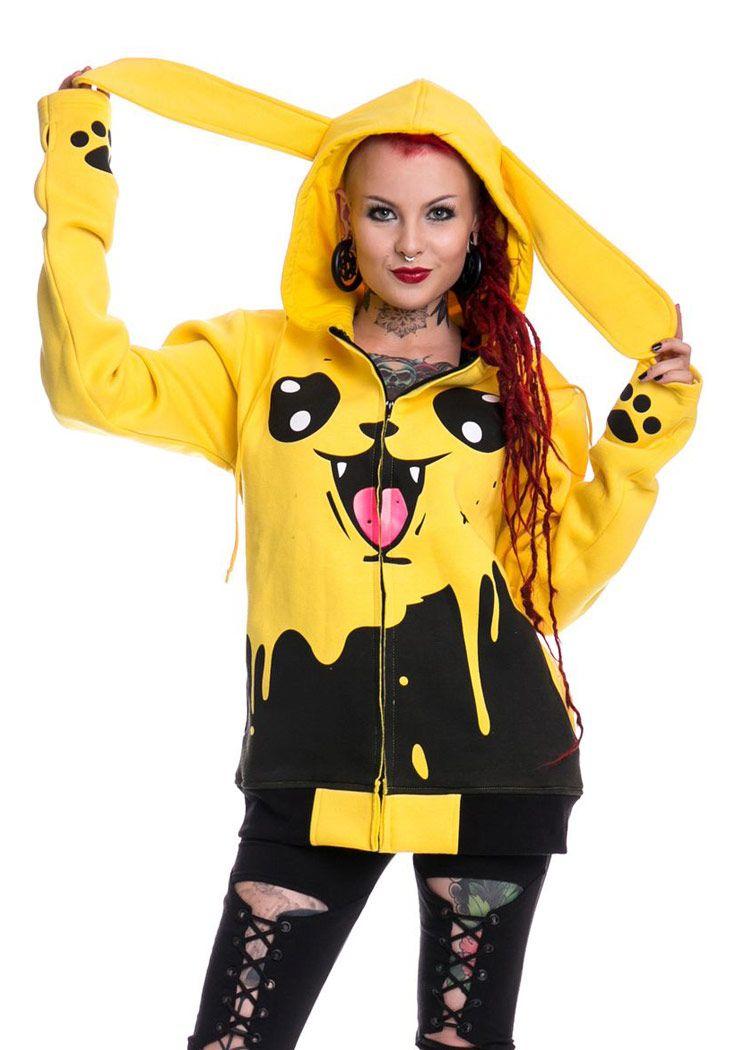 Pikachu Remis In Noir Stock Stock Mignon Peinture En Back Sweat qw7vR