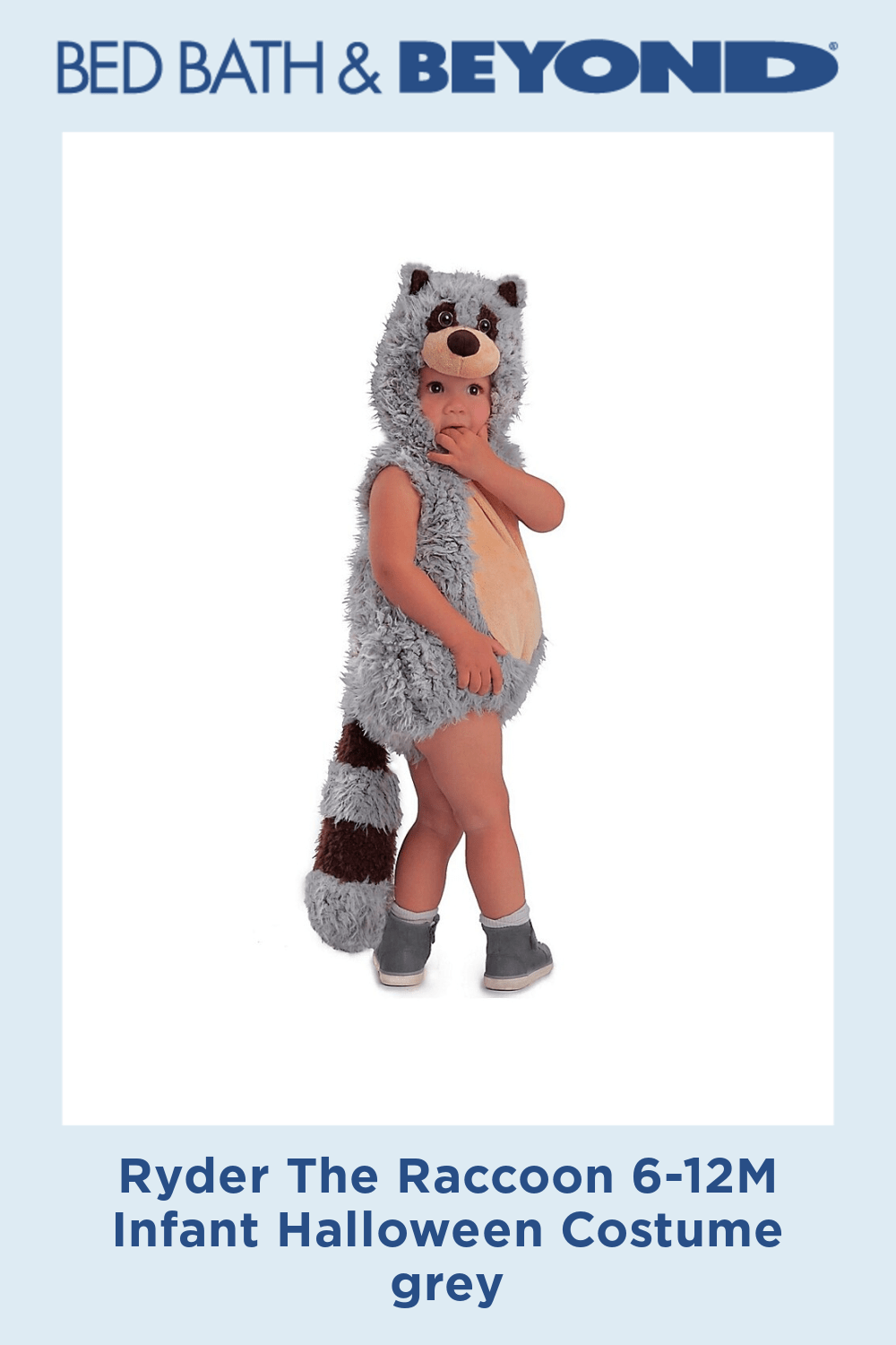 Ryder The Raccoon 6-12M Infant Halloween Costume grey