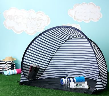 Family Pop Tent Navy Stripe Baby Beach Tent Beach Gear