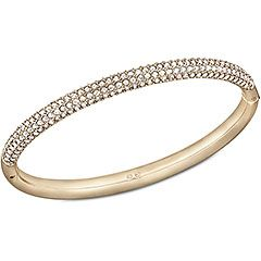 af1e8aeab07421 Stone Mini Bangle, White, Rose Gold Plating | My jewellery | Gold ...