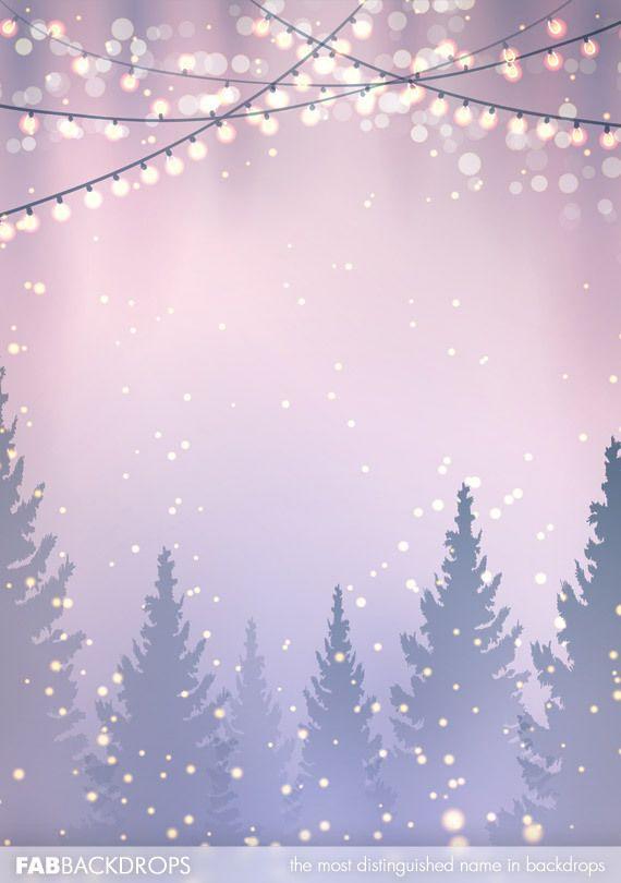 Christmas Lights And Christmas Trees Backdrop Christmas Lights Background Christmas Backdrops Cute Christmas Backgrounds