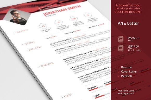 Simple Resume CV Set by Sabin on @mywpthemes_xyz Best Resume