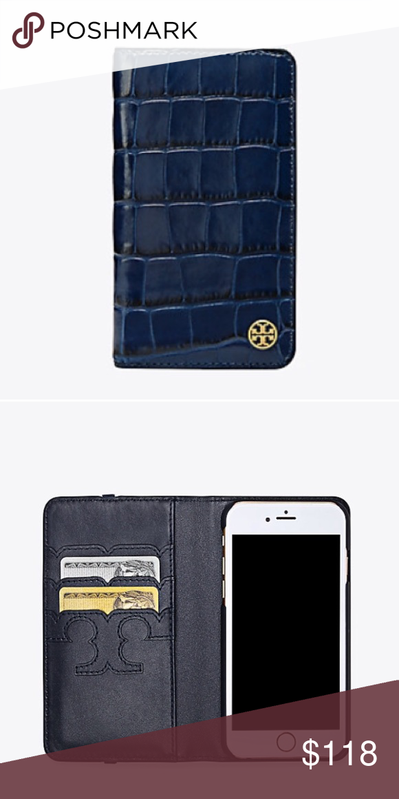 size 40 bef24 043b1 Tory Burch Parker Embossed Folio case for iPhone 7 No trade. New ...