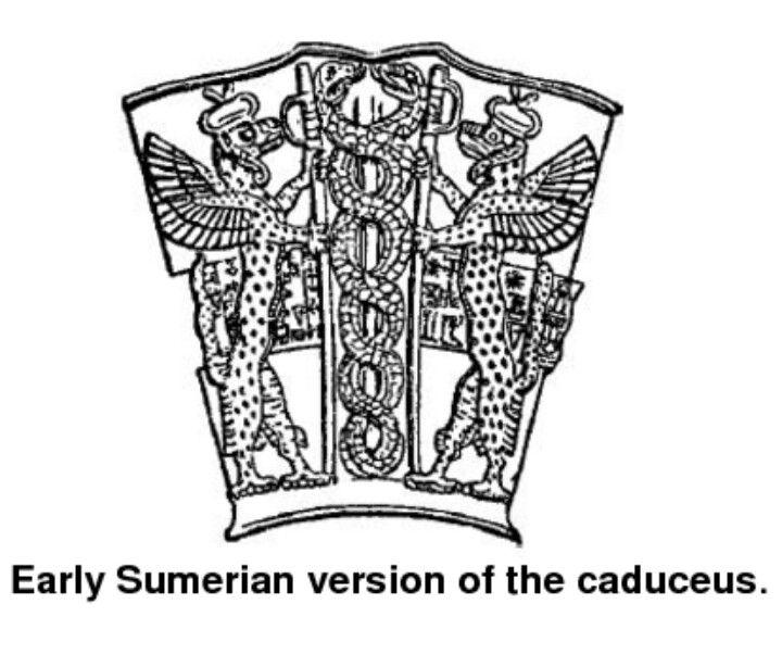 Early Sumerian Symbols Caduceus Illustrations Pinterest