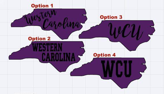 Western Carolina Catamounts Purple State Vinyl Decal