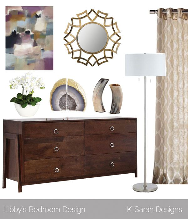 feminine modern chic master bedroom k sarah designs - Masterschlafzimmerdesignplne