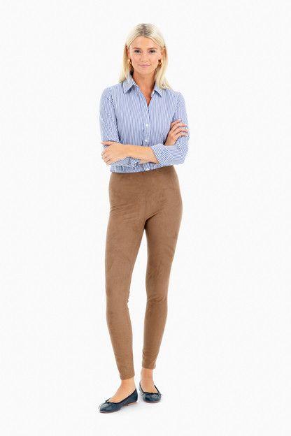 high waist suede legging
