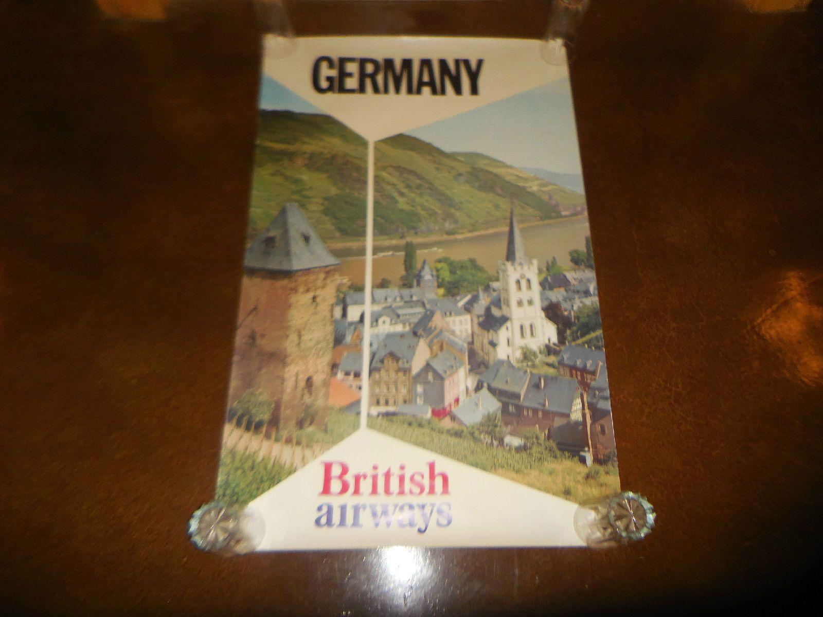 Original British Airways Travel Poster Germany 25 X 40