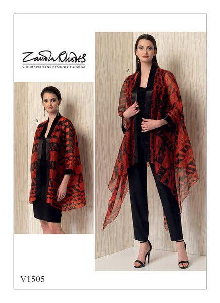 Vogue Pattern V1505 Misses\' Kimono-Style Jackets