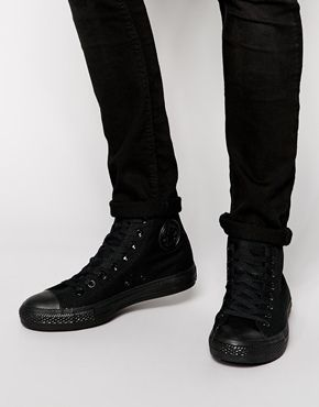 c01b7e7b8c21 Enlarge Converse All Star Hi Plimsolls All Black Men