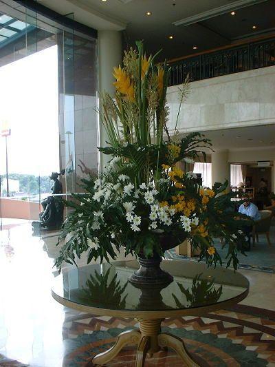 Hotel Foyer Flowers : Flower arrangement on at this hotel