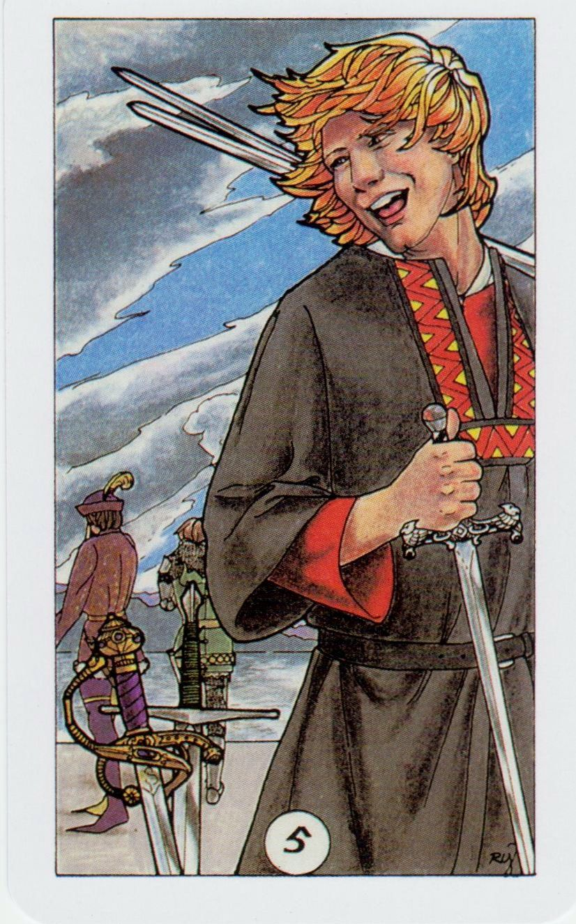 Card Of The Day: Five Of Swords From Robin Wood Tarot
